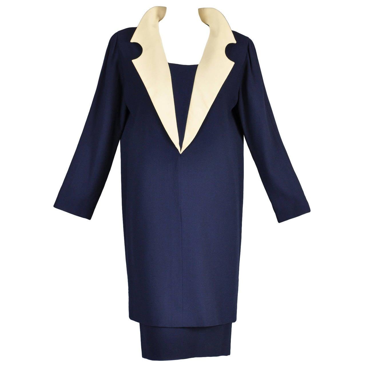 C 1992 pierre cardin haute couture skirt plus tunic shift for Haute couture clothing