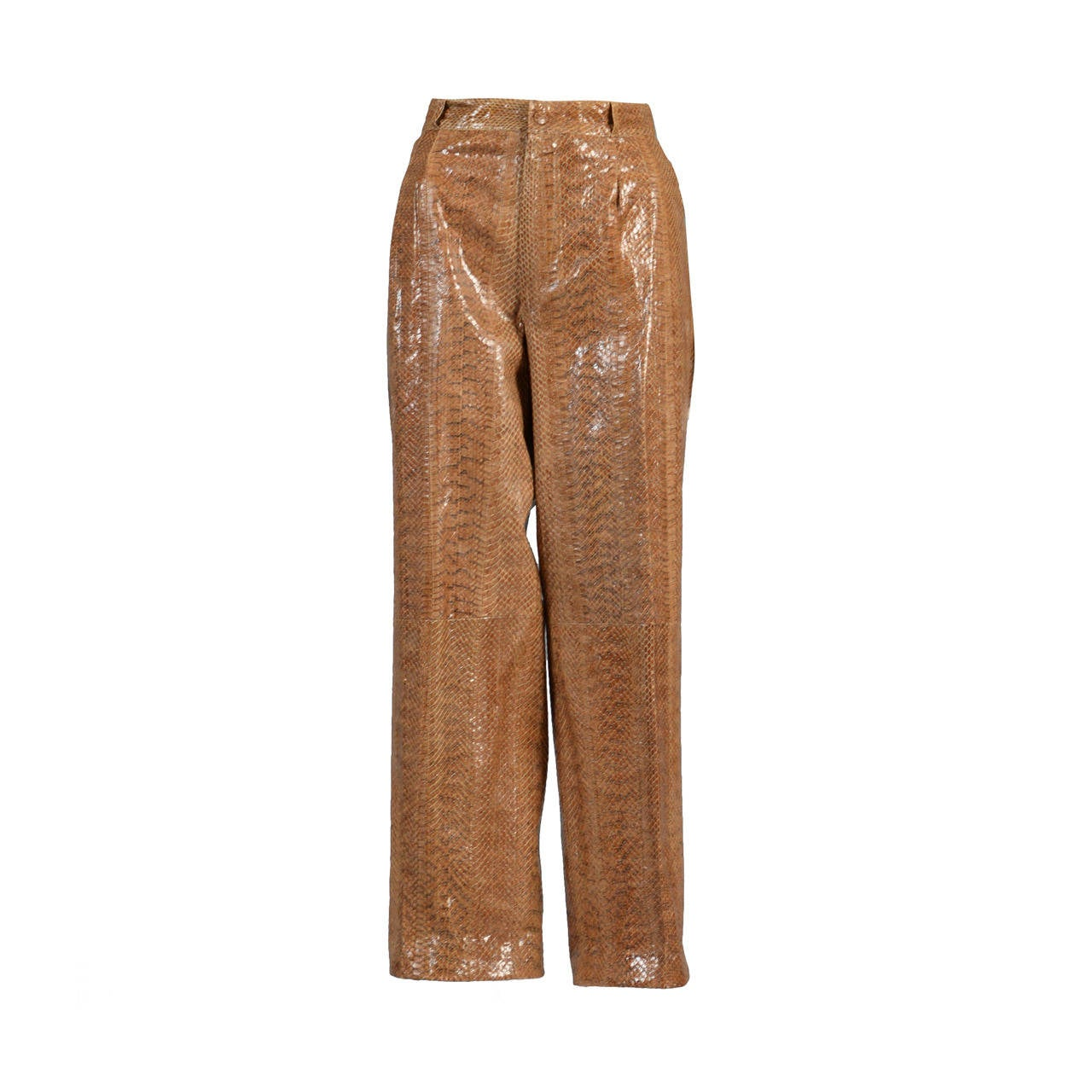 1980 S High Waisted Genuine Snakeskin Pants At 1stdibs