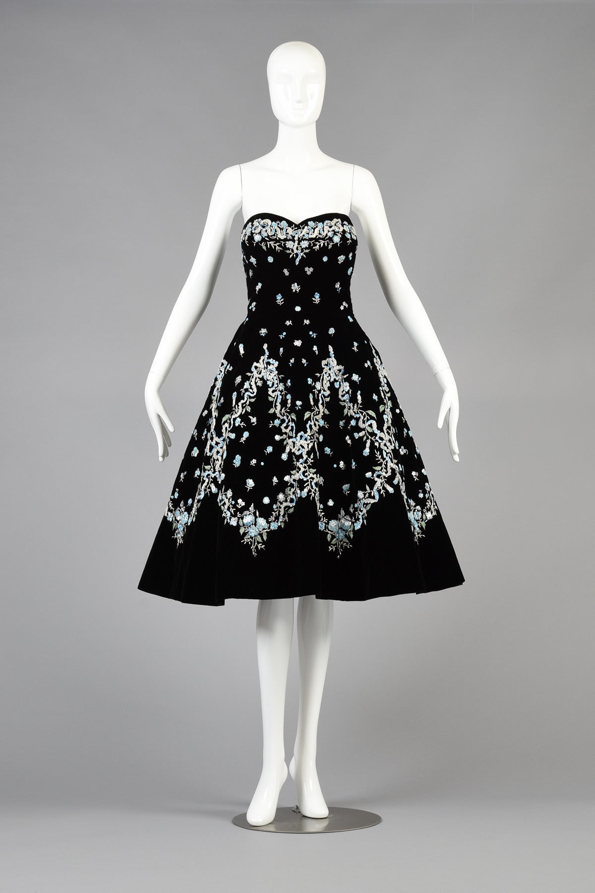 Pierre balmain haute couture cocktail dress with
