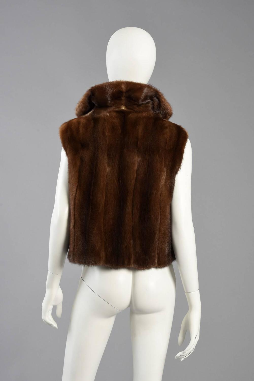 excellent neiman marcus cropped mink fur gilet vest at. Black Bedroom Furniture Sets. Home Design Ideas