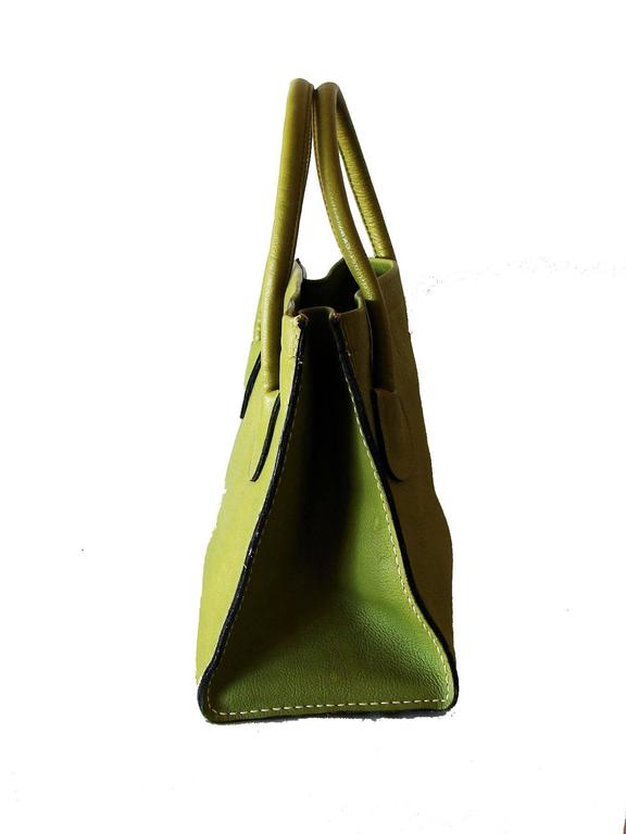 This Incredible Bag Was Designed By Bonnie Cashin For Coach In The 1960s And Coined Brown Mod Lime Leather Y Tote
