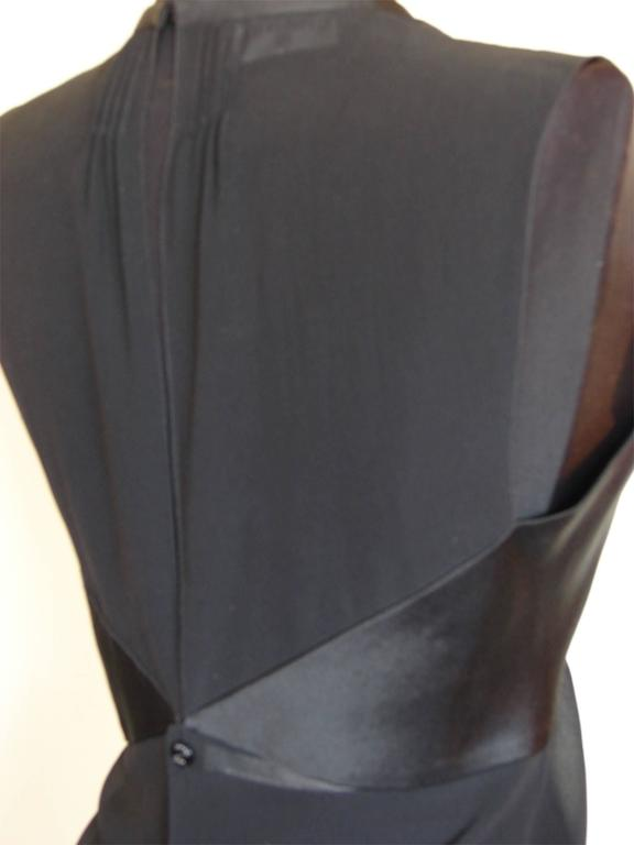 Chanel Black Sheer Silk + Satin Sleeveless Blouse  In Excellent Condition For Sale In Port Saint Lucie, FL