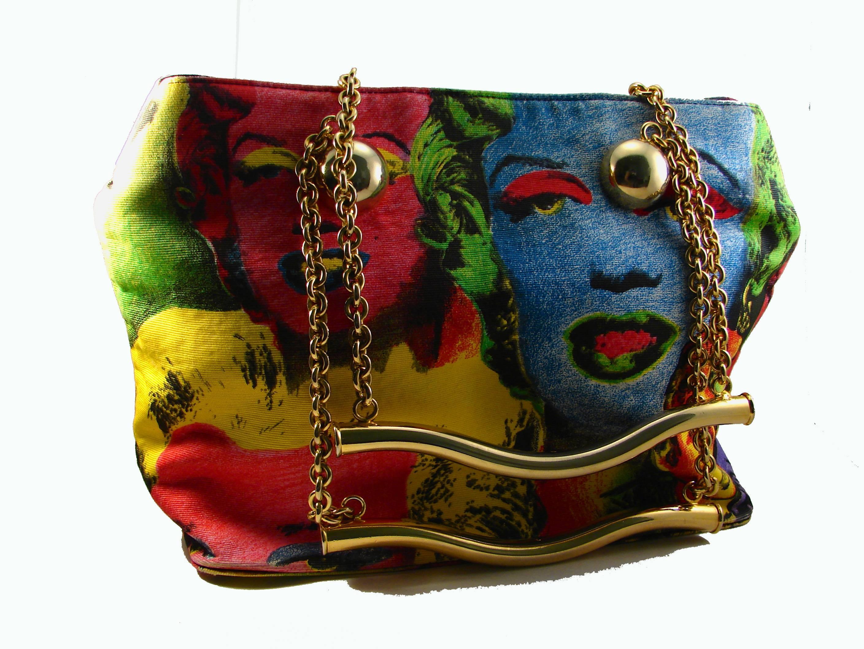 1fe52c8c2b50 Original Versace Couture Warhol Bag Pop Art Marilyn Monroe James Dean Rare  90s at 1stdibs