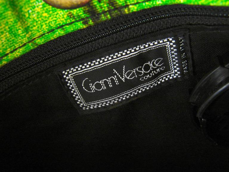 720436793360 Original Versace Couture Warhol Bag Pop Art Marilyn Monroe James Dean Rare  90s For Sale 5