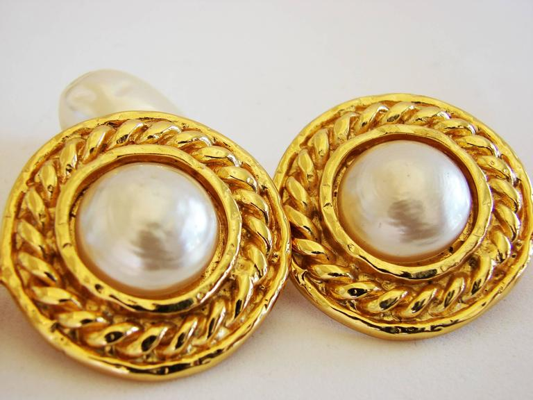 Women's or Men's Edouard Rambaud Large Clip Style Baroque Pearl Dangle Earrings, 1970s For Sale