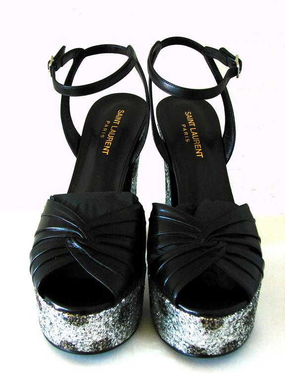 Saint Laurent Candy Platform Glitter Sandals New + Box Hedi Slimane Sz 39 For Sale 1
