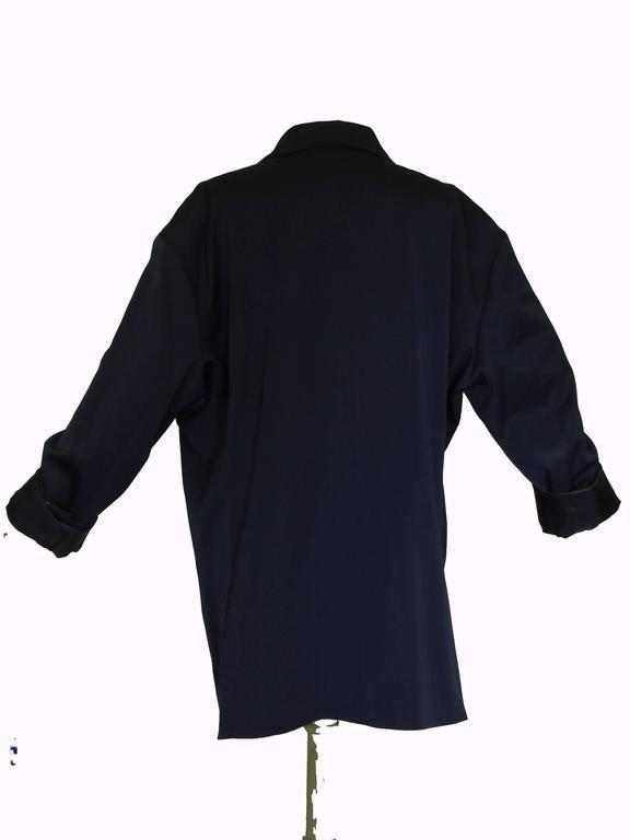 Margiela Pour H&M Navy Oversized Blazer Jacket Contrast Stitching 2012 LE 3