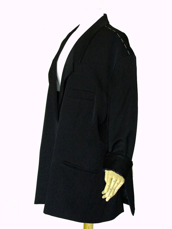 Margiela Pour H&M Navy Oversized Blazer Jacket Contrast Stitching 2012 LE 2