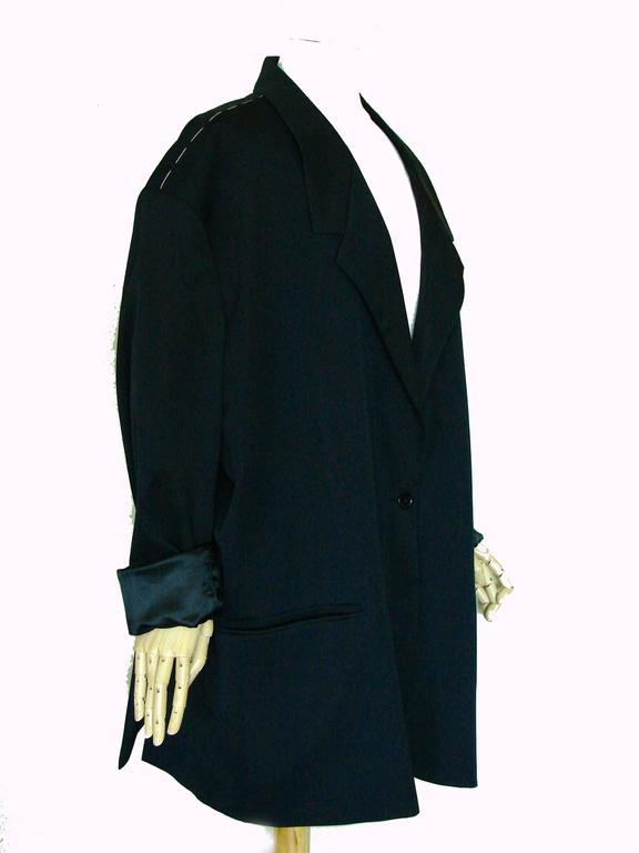 Margiela Pour H&M Navy Oversized Blazer Jacket Contrast Stitching 2012 LE 4