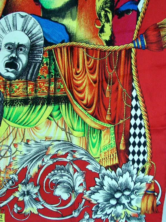 Versace Silk Scarf 35in Pop Art Fondazione Antonio Ratti Marilyn Monroe Rare In Good Condition For Sale In Port Saint Lucie, FL