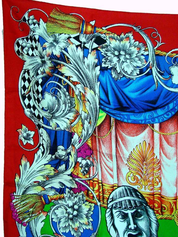 Women's Versace Silk Scarf 35in Pop Art Fondazione Antonio Ratti Marilyn Monroe Rare For Sale