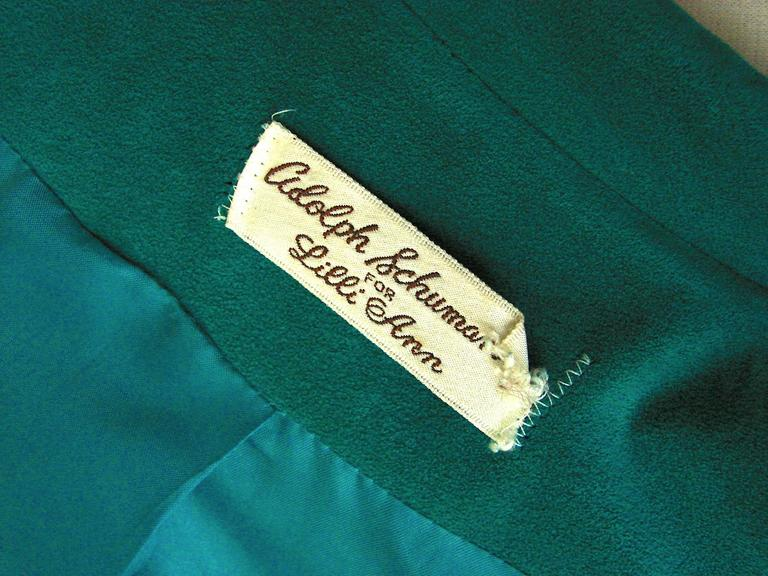 Vibrant Lilli Ann Turquoise Ultrasuede Belted Trench Coat Size M  7