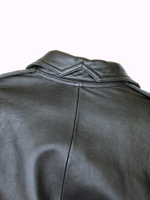 LA Roxx Black Leather Motorcycle Jacket with Zippers Cropped Moto Sz S 7