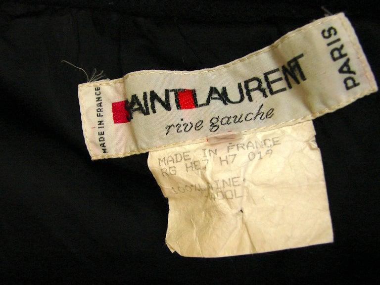 Yves Saint Laurent Long Wool Coat YSL Vintage 70s Sz38 For Sale 4