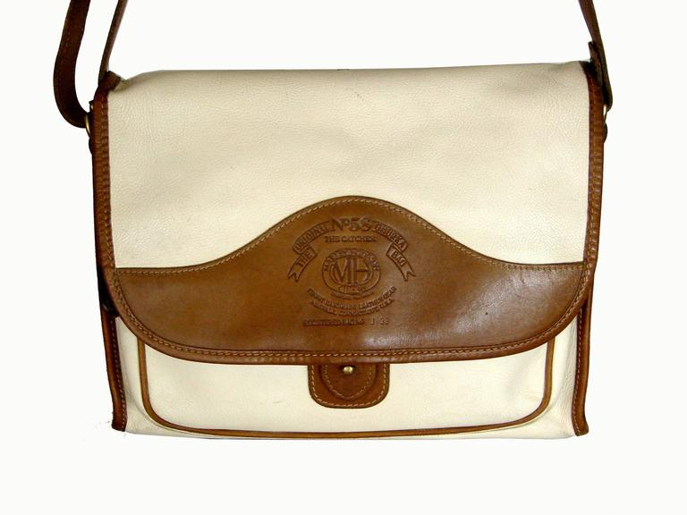 Beige Ghurka Marley Hodgson Messenger Bag The Catcher No 58 Rare Ivory Khyber Calf For