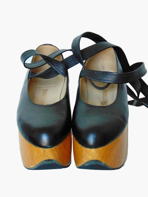 f0862b38c433 Women s or Men s Vivienne Westwood Rocking Horse Shoes Black Leather  Ballerina Platforms US6 UK5 For Sale