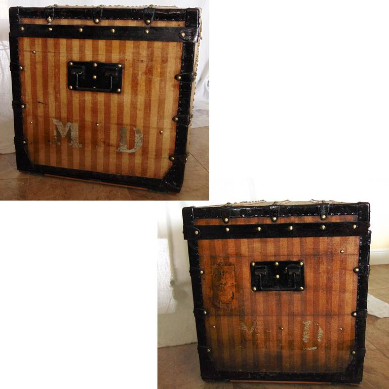 Louis Vuitton Ray 233 E Canvas Steamer Trunk Circa 1876 Rare