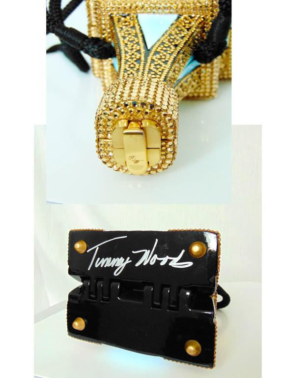 Timmy Woods Beverly Hills Embellished Eiffel Tower Bag Limited Edition Signed  For Sale 3