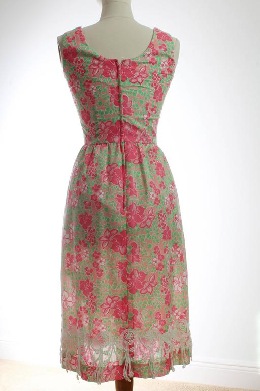 Colorful Lilly Pulitzer Dress with Lace The Lilly 1970s Sun Dress Sz 10 3