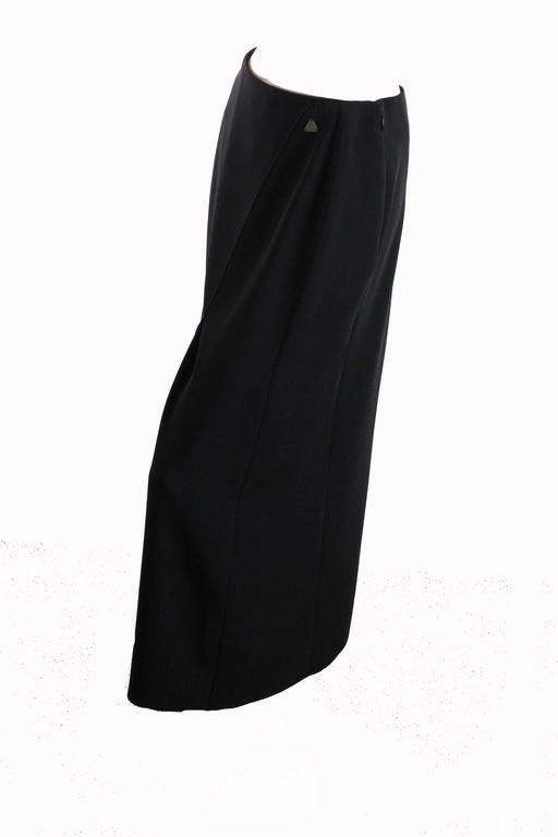 Chanel Black Crepe Maxi Skirt 00C Resort Collection Size 40 New with Tags  In New Condition For Sale In Port Saint Lucie, FL