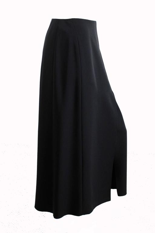 Chanel Black Crepe Maxi Skirt 00C Resort Collection Size 40 New with Tags  For Sale 1