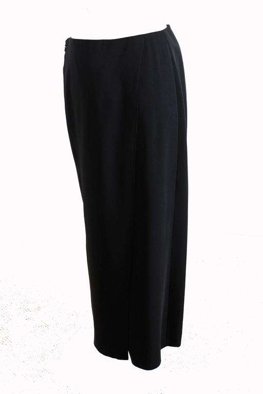 Women's Chanel Black Crepe Maxi Skirt 00C Resort Collection Size 40 New with Tags  For Sale