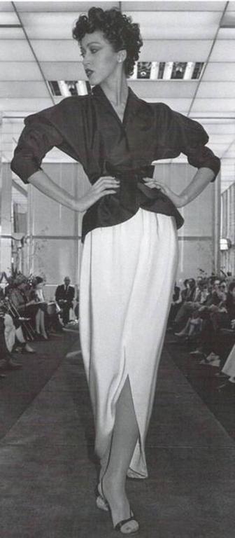 70s Halston Silk Wrap Skirt Creme White Crepe Tulip Documented Montaldo's Sz 12 9
