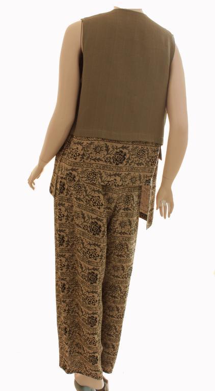 New Ivan Grundahl Long Vest & Pants Set Lagenlook Linea S Jag Floral Tweed M  In New Condition For Sale In Port Saint Lucie, FL