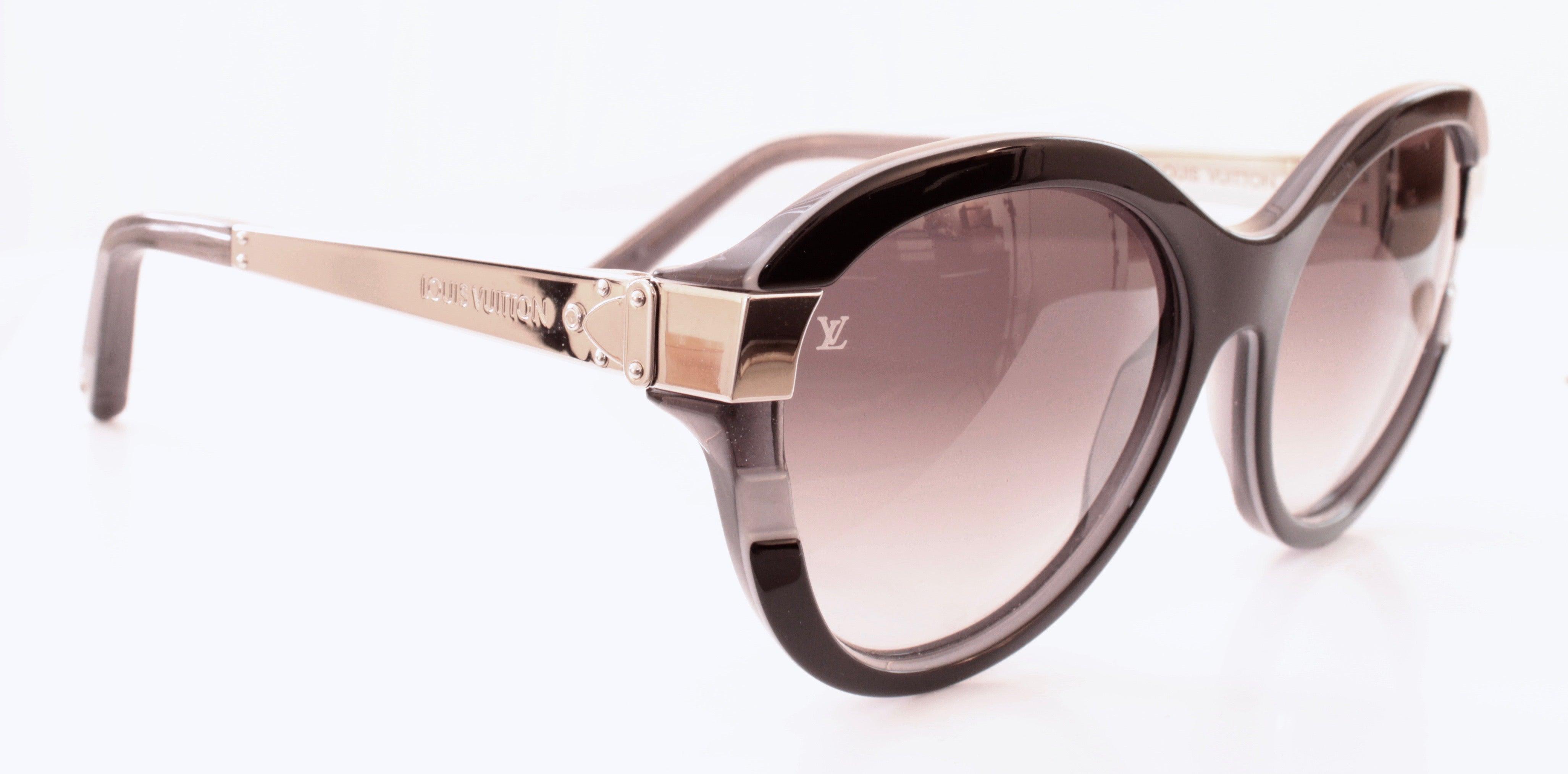 8eadd4888f615 Iconic Louis Vuitton Petit Soupçon Cat Eye Sunglasses Black + Case Z0489W  2014 at 1stdibs