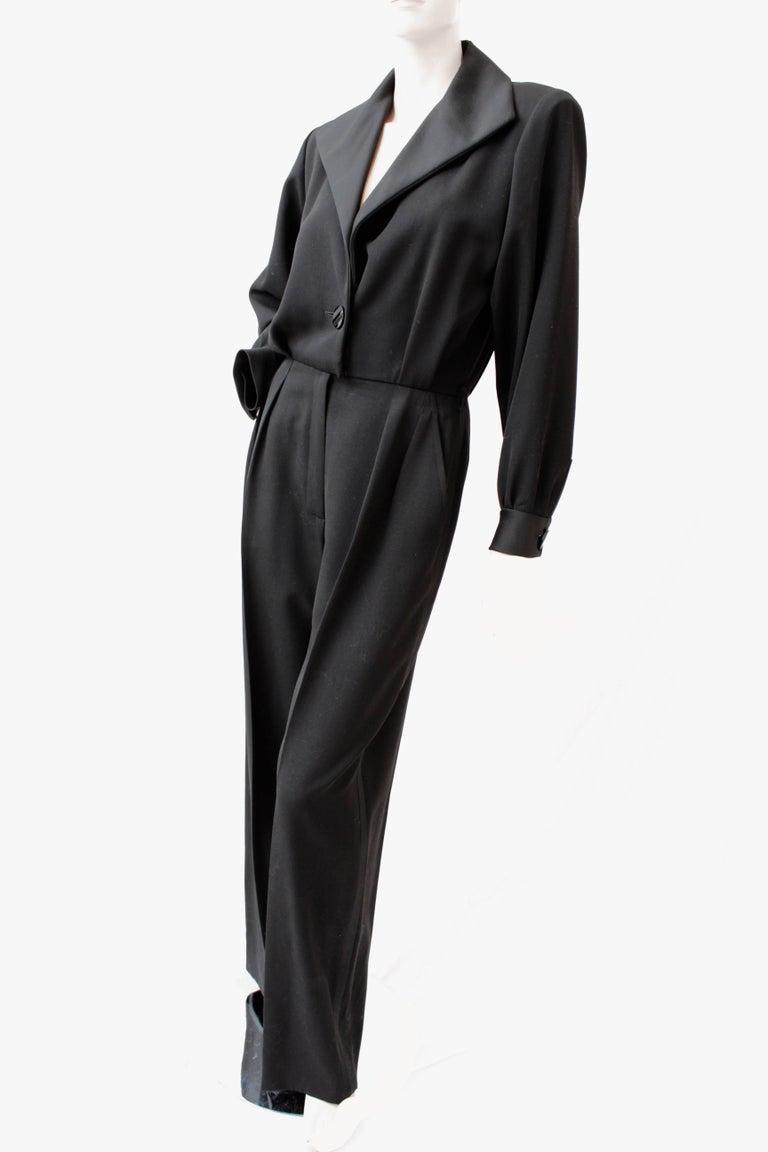 8a19af26dff Yves Saint Laurent Black Tuxedo Jumpsuit Le Smoking YSL Rive Gauche 90s NOS  Sz40 In New