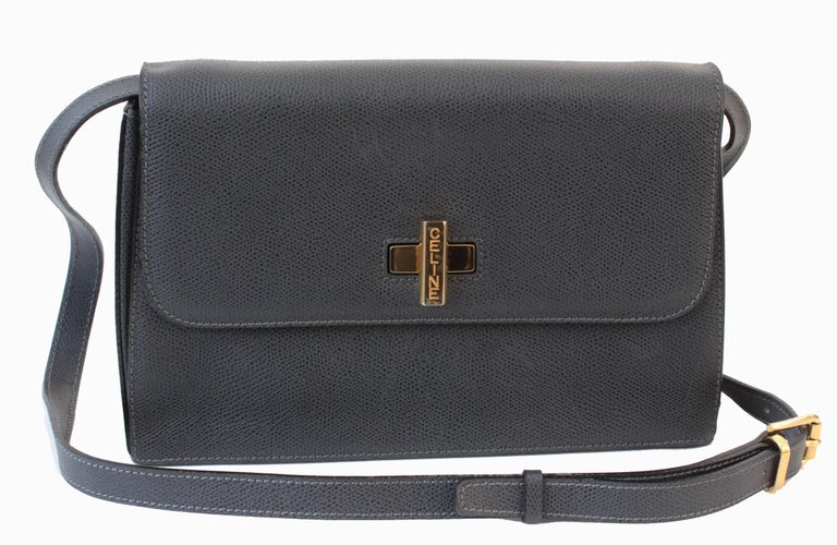 This Leather Shoulder Bag Was Made By Celine Paris Likely In The Early 1990s