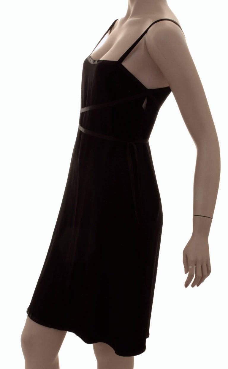 Yves Saint Laurent Cocktail Dress Black Crepe with Wrap Ties YSL Rive Gauche 40 For Sale 4