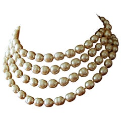 Chanel Faux Pearl Opera Necklace Sautoir Infinity 65 Inches
