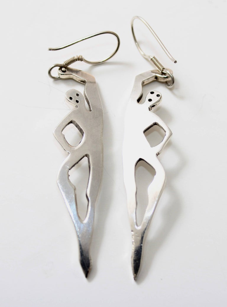 v earrings of jewelry stamped figural appx long they pair master sterling dangle modernist measure dancers a silver aimg mexico id