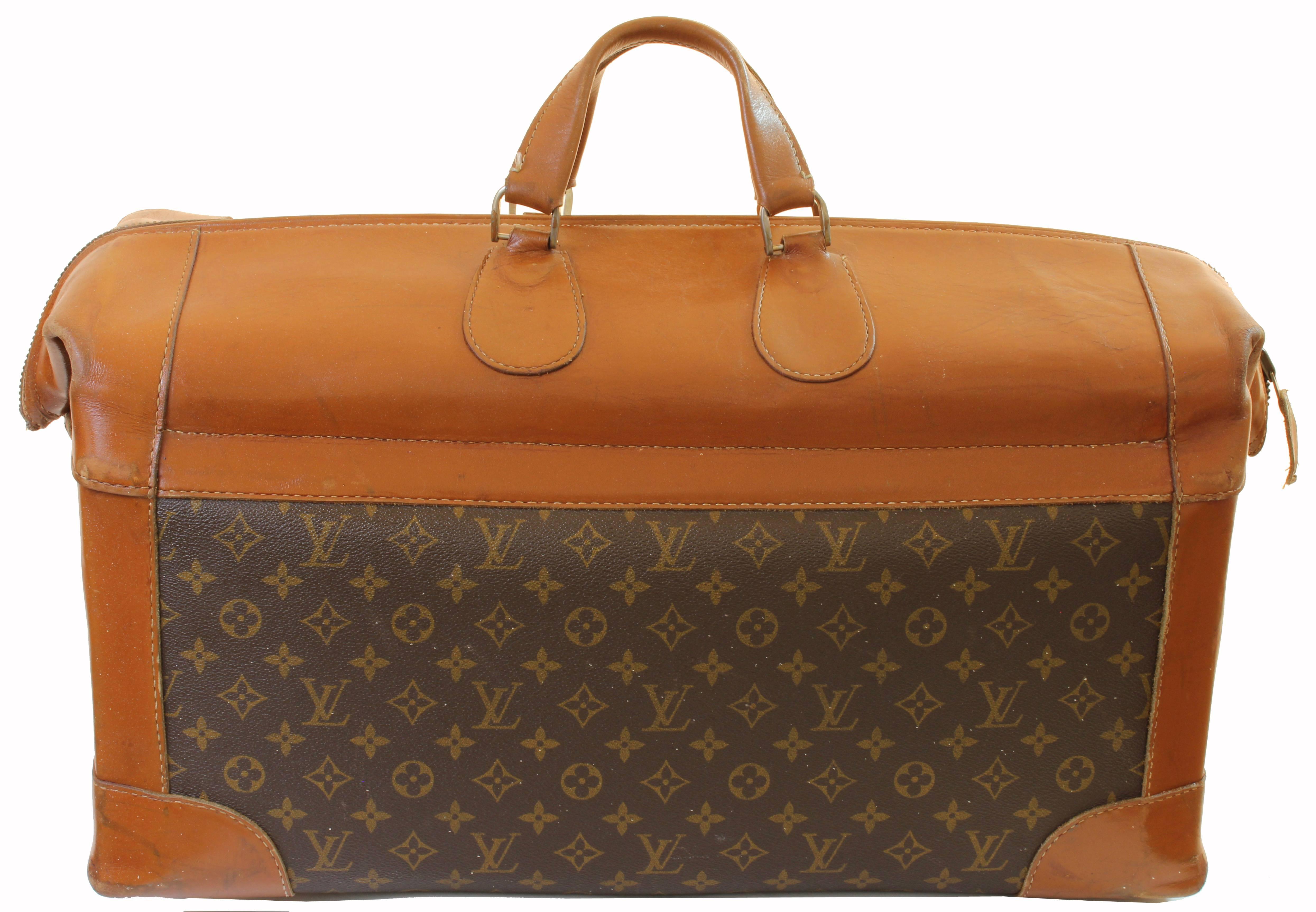 Louis Vuitton Monogram Orange Embossed Patent Leather Suitcase E5EPKg6Kd