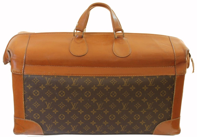 Vintage Louis Vuitton Monogram Travel Bag Steamer Keepall Doctors Bag Rare 70s  For Sale 1