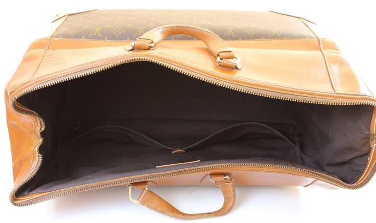 Vintage Louis Vuitton Monogram Travel Bag Steamer Keepall Doctors Bag Rare 70s  For Sale 3
