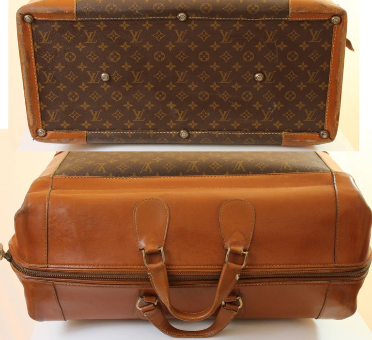 Vintage Louis Vuitton Monogram Travel Bag Steamer Keepall Doctors Bag Rare 70s  For Sale 2
