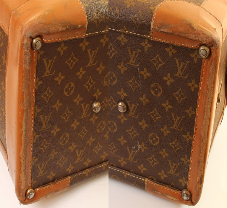 Vintage Louis Vuitton Monogram Travel Bag Steamer Keepall Doctors Bag Rare 70s  For Sale 4