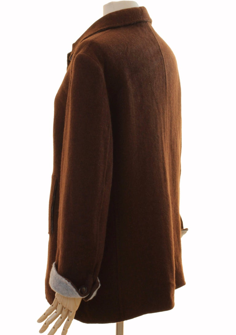 Brown Cashmere Jersey Jacket by Giorgios Palm Beach & Loro Piana Italy Sz 48  For Sale 2