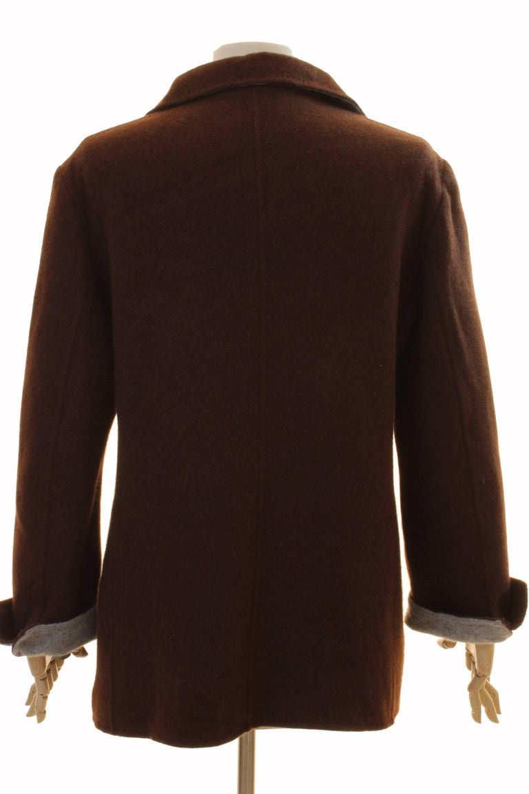 Brown Cashmere Jersey Jacket by Giorgios Palm Beach & Loro Piana Italy Sz 48  For Sale 1