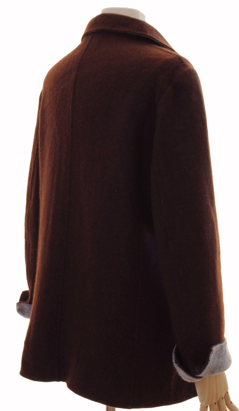 Women's Brown Cashmere Jersey Jacket by Giorgios Palm Beach & Loro Piana Italy Sz 48  For Sale