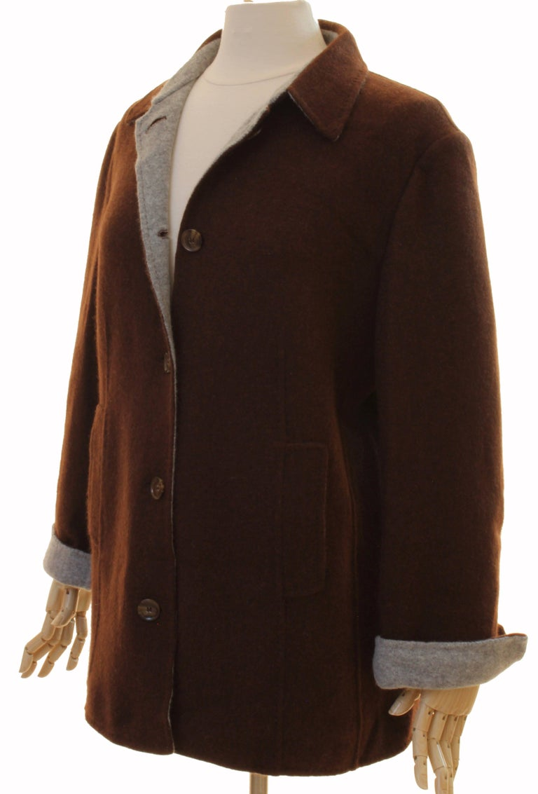 Brown Cashmere Jersey Jacket by Giorgios Palm Beach & Loro Piana Italy Sz 48  For Sale 3