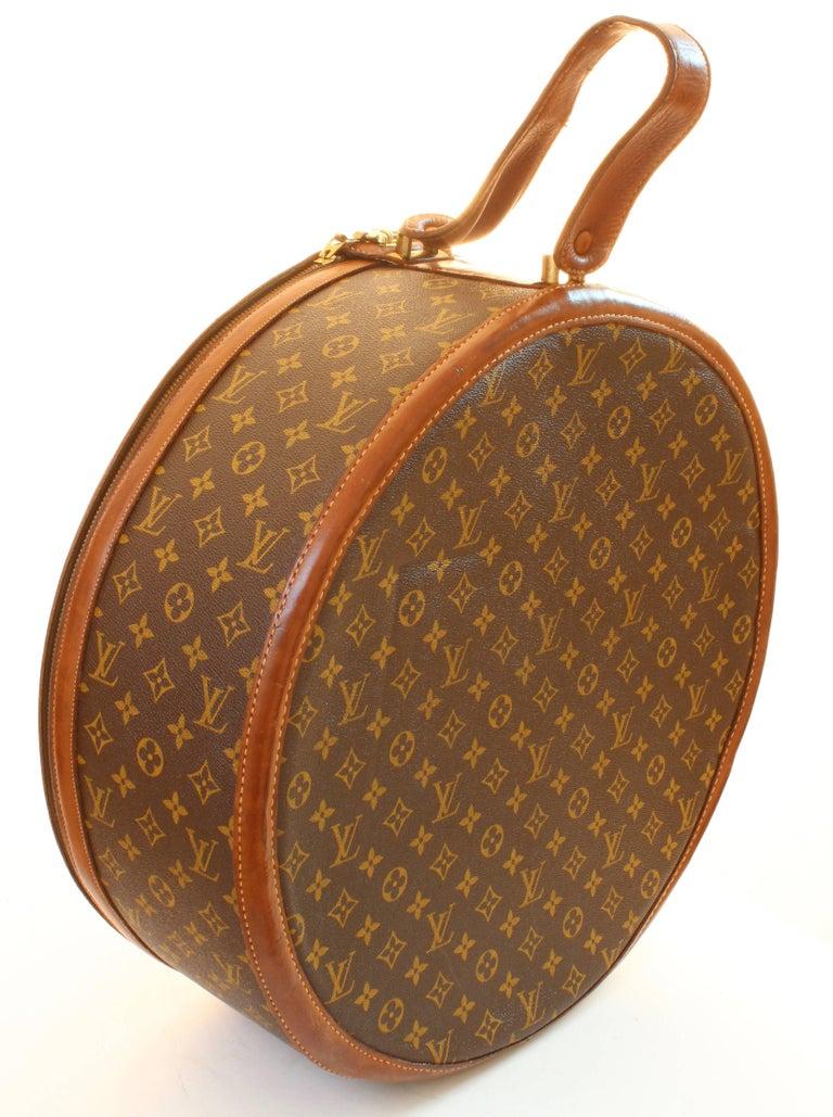 louis vuitton monogram round hat box boite chapeaux 50cm french company 1970s at 1stdibs