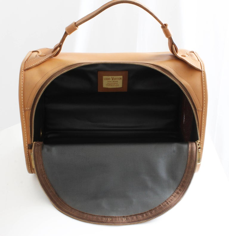 e7d548143f8a Louis Vuitton French Company Sac Chien Monogram Dog Carrier Travel Bag 40cm  70s For Sale 6
