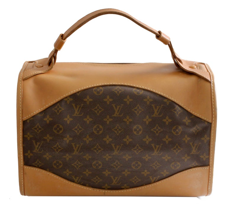 c0dbbf44e9bc Louis Vuitton French Company Sac Chien Monogram Dog Carrier Travel Bag 40cm  70s For Sale 1