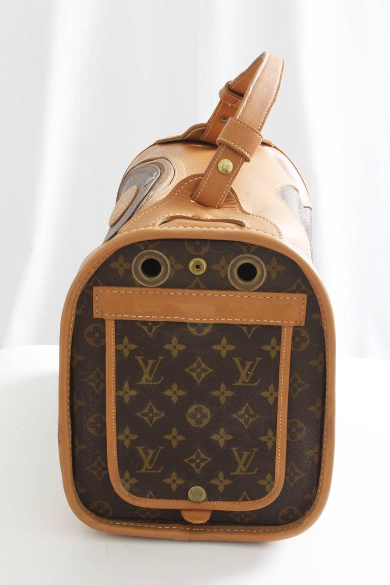 c4a878cd828d Women s or Men s Louis Vuitton French Company Sac Chien Monogram Dog Carrier  Travel Bag 40cm 70s