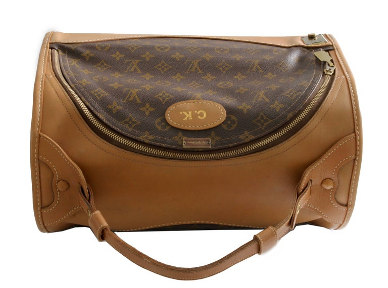 1c8610586fa7 Louis Vuitton French Company Sac Chien Monogram Dog Carrier Travel Bag 40cm  70s For Sale 4