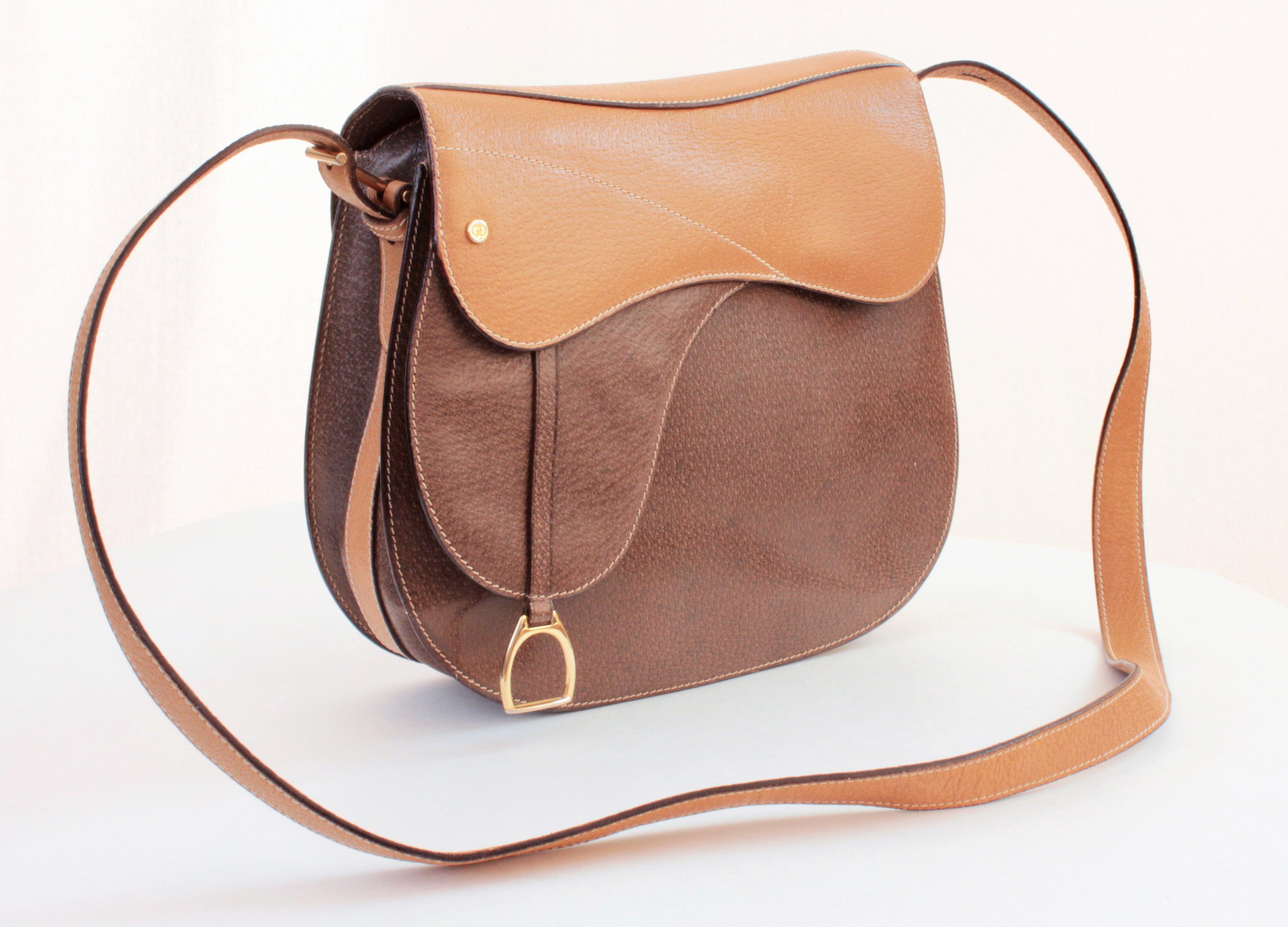 6ef23aaaaae Gucci Equestrian Pigskin Leather Stirrup Charm Vintage Saddle Bag ...