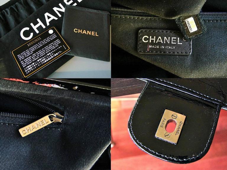 Chanel Ritz Shoulder Bag Convertible Clutch Black Matelasse Patent Leather  For Sale 6
